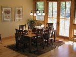 Dining Area Seats 8 with Mountain Views and Direct Access to Furnished Patio